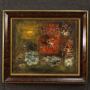 """Abstract painting signed by Robert Jay Wolff"""""""