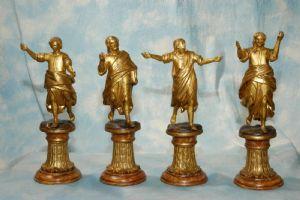 """Statuette lignee """"Quattro Evangelisti"""""""