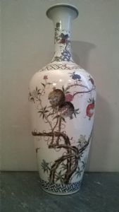 Colorful Chinese vase""