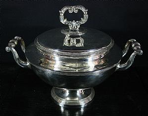 Silver soup tureen - J. F. Veyrat 1819-1838