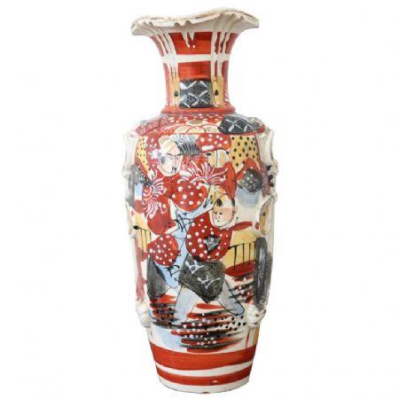 Vaso antico satsuma Giappone in ceramica dipinto a mano PREZZO TRATTABILE