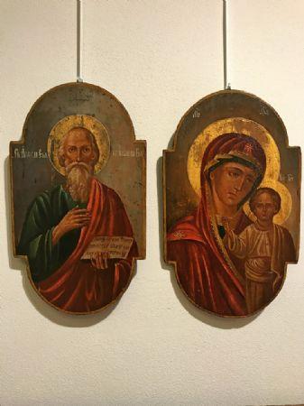 Coppia di icone raff. Maria e Giuseppe -  lotto 14-15