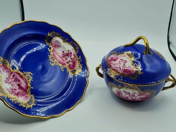 Dresda, Ecuelle in porcellana XIX sec.