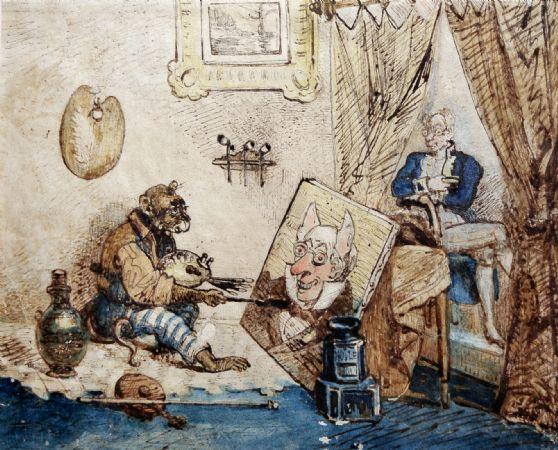 J.J. Grandville, Le singe peintre