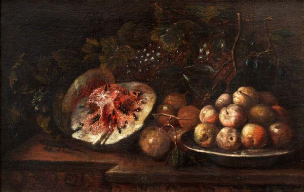 Natura morta con frutti su un ripiano, Paolo Paoletti (1671 – 1735)