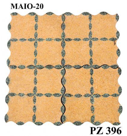 Antica pavimentazione in graniglia. cm 20,5 x 20,5.