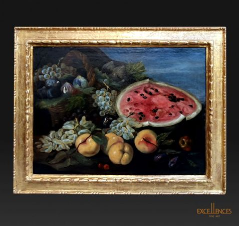 Antico dipinto di Bartolomeo Castelli detto Spadino, natura morta