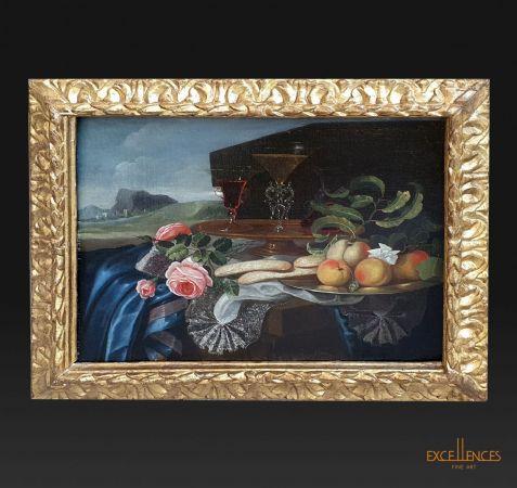 Antico dipinto natura morta Maxilian Pfeiler