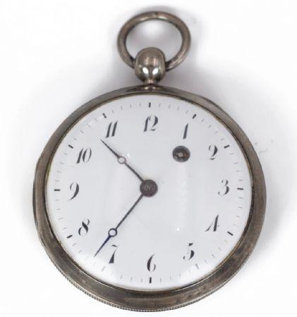 Orologio da tasca in argento prima metà dell'800