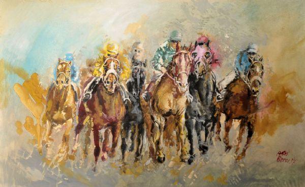 Aris Bacci, Cavalli al galoppo