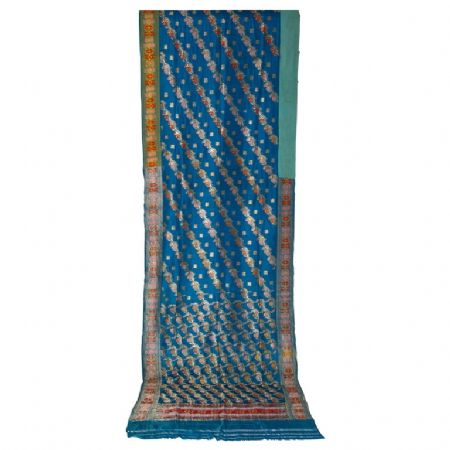SARI Indiano antico color turchese