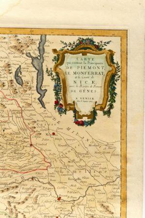 Carta geografica di Monaco del 1780 - rif. ST/609