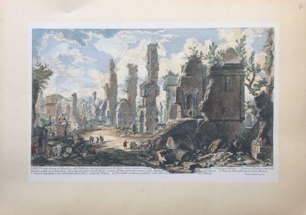 """""""Veduta della Via Appia"""" - fine XIX sec. - stampa Piranesi"""