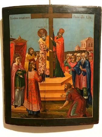 Icona raffigurante esaltazione della croce - lotto 8