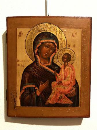 """Icona raffigurante """"Madre di Dio di Tichuin"""" - lotto 13"""