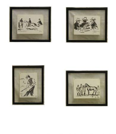 Gruppo di 4 disegni
