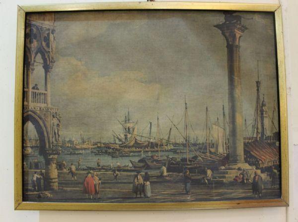 Stampa raffigurante veduta di Venezia