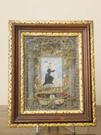 Reliquiario con miniatura dipinta su pergamena