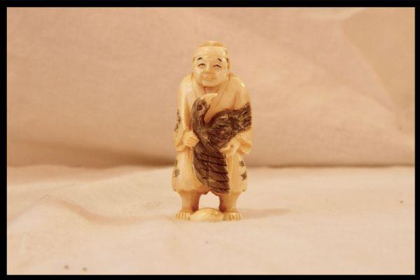Okimono cinese in avorio, XIX secolo