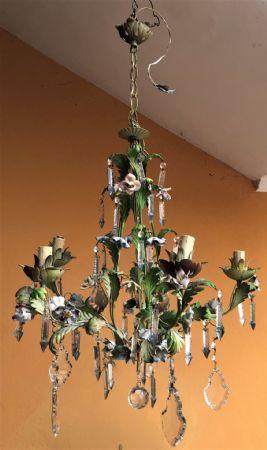 lampadario con fiorellini
