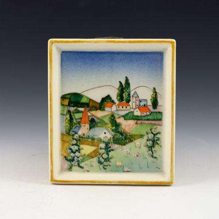 <I>Targa paesaggio</I> <br>Mario Sturani, Manifattura Lenci <br>Torino, anni '30