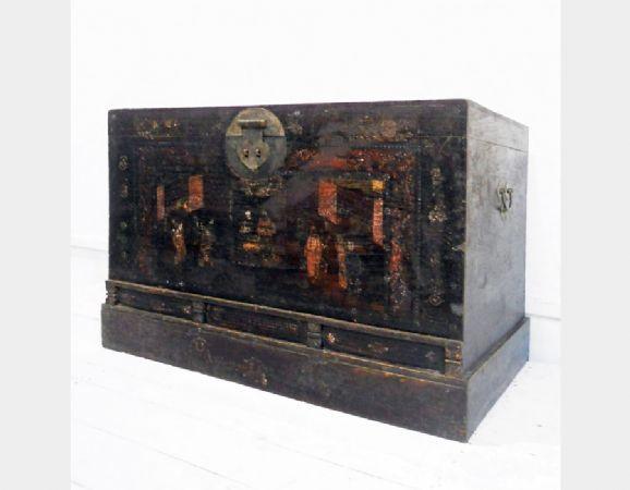 Baule in legno di olmo antica pechino Art 3352A
