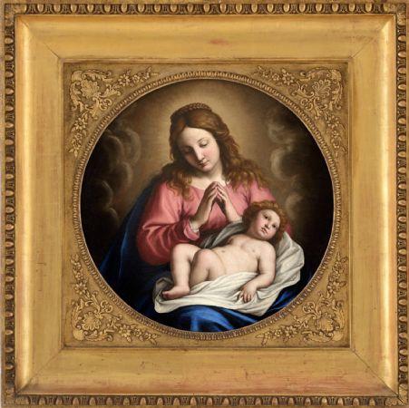 Giovanni Battista Salvi detto il Sassoferrato (Sassoferrato 1609 – Roma 1685), Madonna con Gesù Bambino, olio su tela