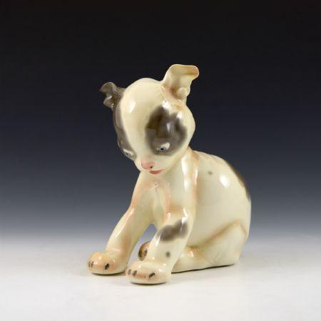 Cucciolo di cane <br>Felice Tosalli, Manifattura Lenci <br>Torino, 1937