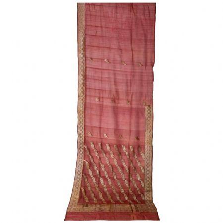 Antico Sari indiano color malva