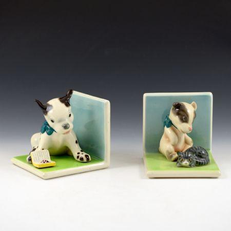 <I>Cani fermalibri</I> <br>Manifattura Lenci <br>Torino, anni '30