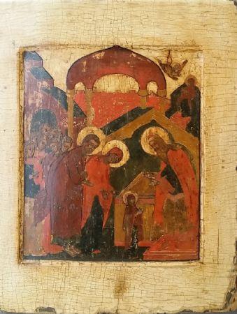 Gesù presentato a San Simeone - Icona Russa fine XVIII secolo