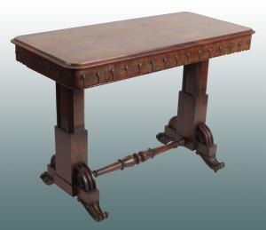 Antique English dressing table from the 1800s Regency style