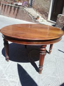 Ломбардный круглый раскладной стол 1800 л148х80 удлиненный 280 в граненых ножках грецкого ореха гарантирует юридические условия