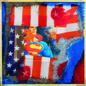 Omar Ronda (1947) American gelé 2006 photo en plastique cm. 70x70