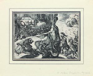 ANTONIO TEMPESTA (Firenze 1555-Roma 1630) Perseo che sconfigge il drago