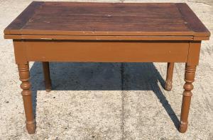 tavolo a libro in legno di ciliegio, del 1800