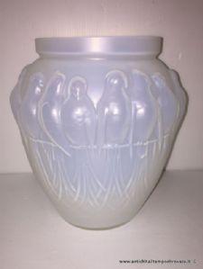 Antico vaso globulare Art dèco Edmond Etling
