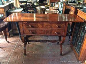 古色古香的家具Carlo X在桃花心木羽毛