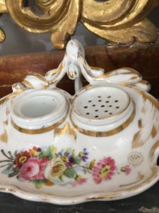 France porcelain inkwell