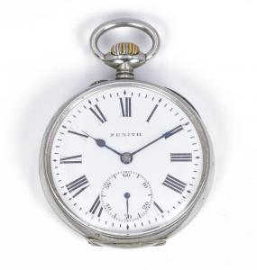 Orologio da tasca Zenith in acciaio , primi del '900