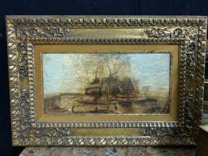Gemälde auf flämischer Tafel aus dem 19. Jahrhundert