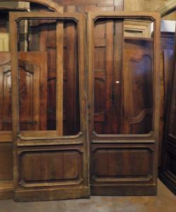 neg038 - porta da loja, século 19, Torino, medindo cm l 180 x h 224 x th. 5
