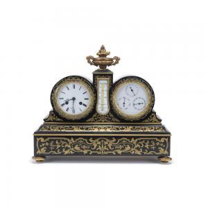 Orologio da appoggio francese in legno dipinto