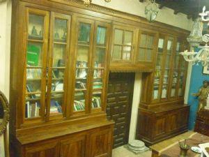 Grande libreria in noce