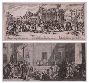 Jacques Callot (Nancy 1592 - 1635) - Paar Radierungen