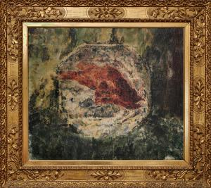 安东尼奥·曼奇尼。板上的石斑鱼或板上的红鱼1900 ca.