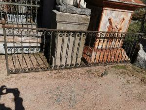 antique iron railing