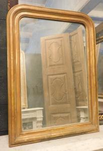 specc262 - простое позолоченное зеркало, эпоха 800, размер см 65 xh 90 см