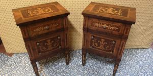 Inlaid bedside tables