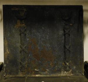 p194 чугунная каменная плита, Людовик XVI, см 74 x х 65 см